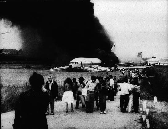 Imagen del DC-10 accidentado en Málaga