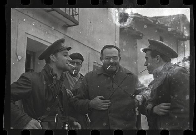 Imagen de Hemingway en Teruel