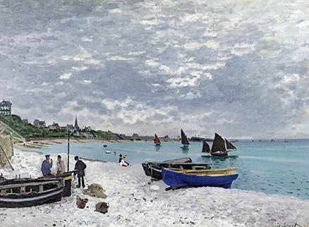 Imagen de La plage de Sainte adresse temps gris de Claude Monet