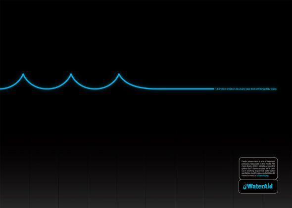 Imagen de anuncio sobre el agua