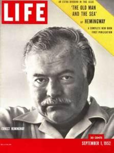 Imagen de Hemingway en la revista Life