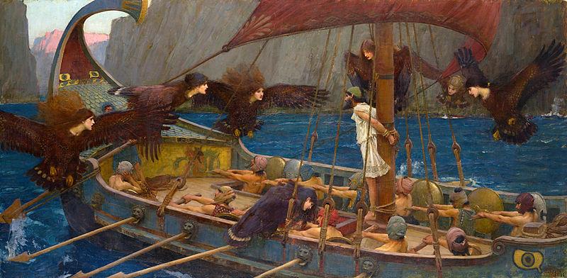 Imagen de Ulises y las sirenas de John William Waterhouse
