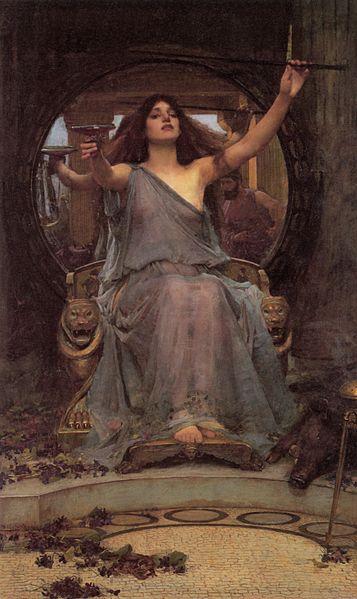 Imagen de Circe ofreciendo un brebaje a Ulises de Waterhouse