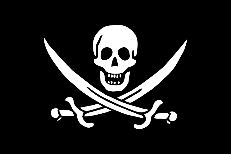 Imagen de la bandera pirata de Jack Rackham