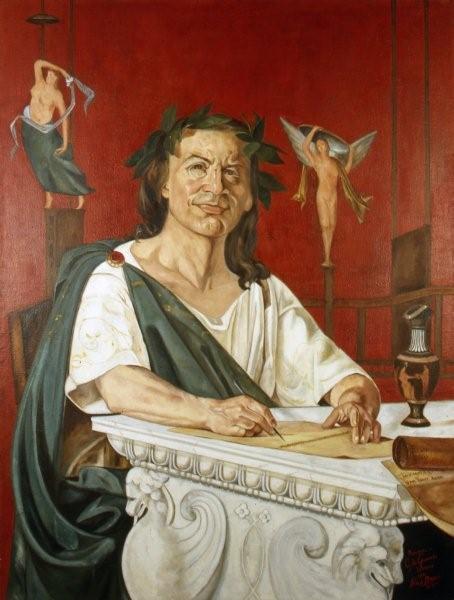 Imagen del poeta romano Horacio