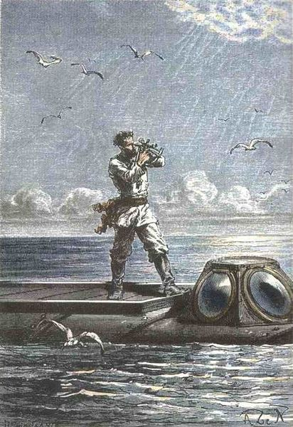 Imagen del Capitán Nemo de Georges Roux