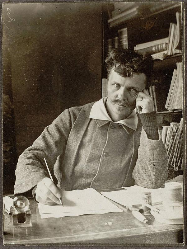 Imagen de autorretrato de August Strindberg