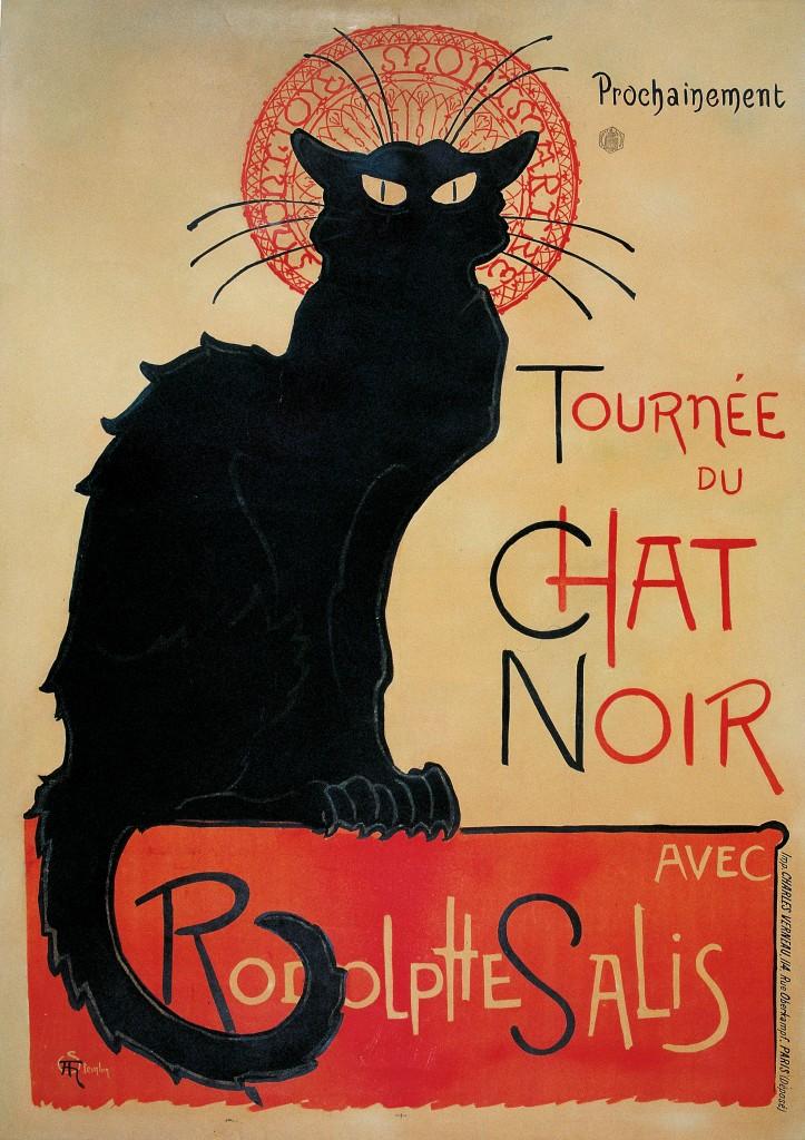 Imagen del cartel Tournée du Chat Noir por Théophile Steinlen