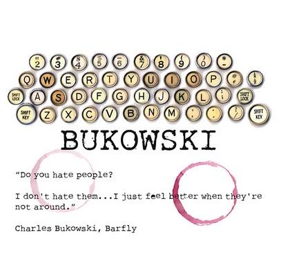 Imagen de un poster de Bukowski