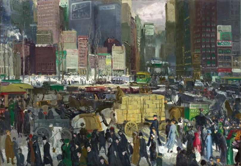 Imagen de New Yory por George Bellows