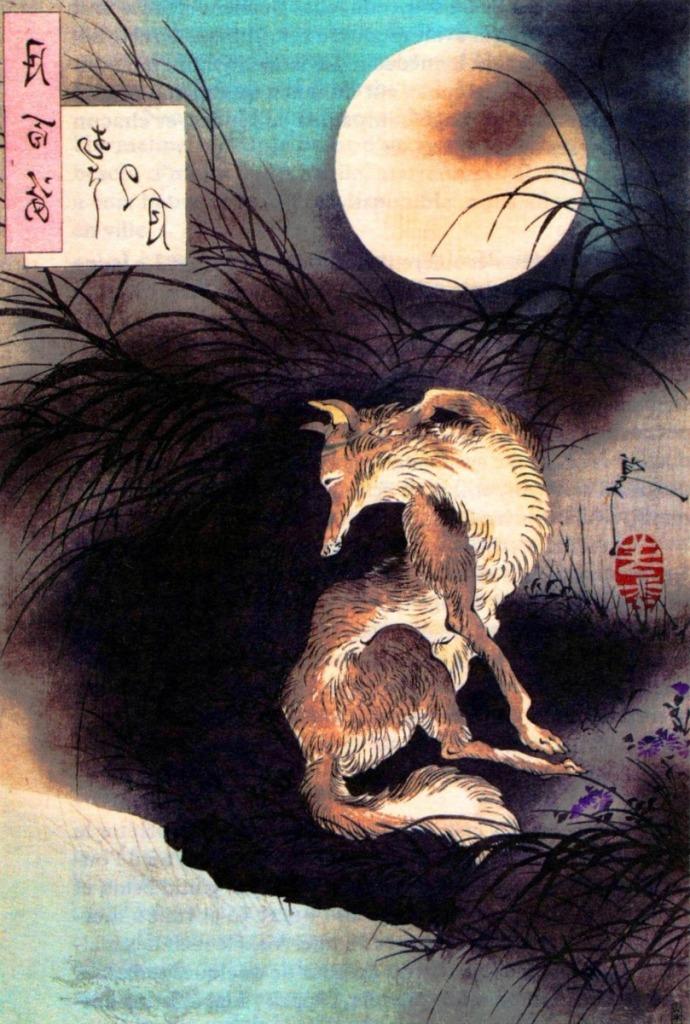Imagen del zorro de Yoshitoshi
