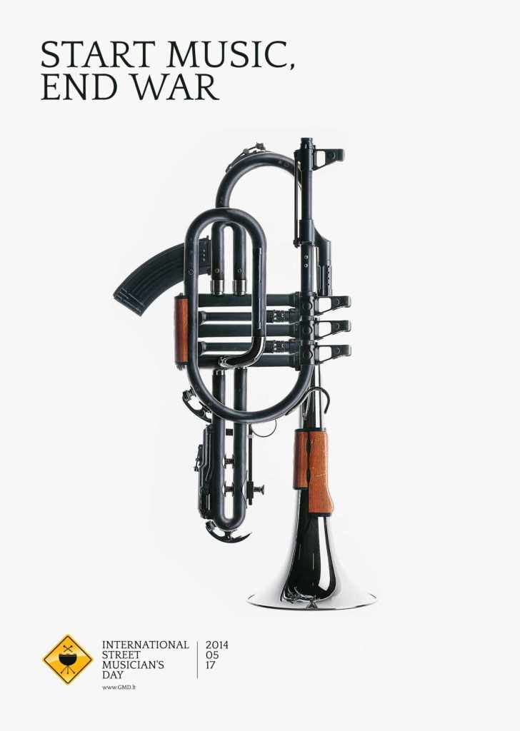 Imagen de músicos callejeros