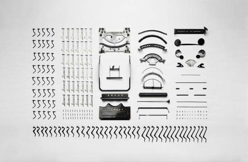 Image of typewriter pieces
