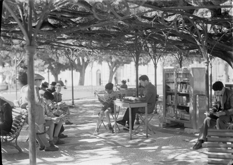 Imagen de biblioteca jardim en Lisboa