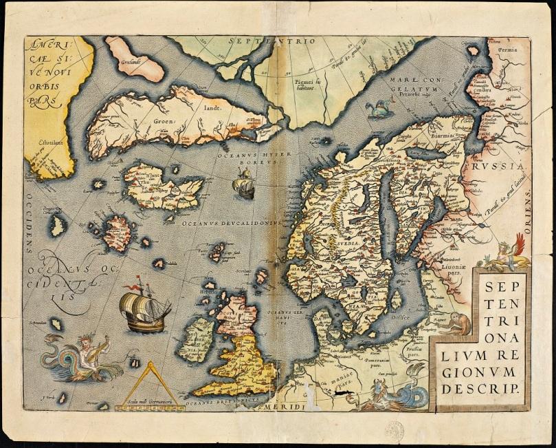 Carta del Mar del Norte de Ortelius