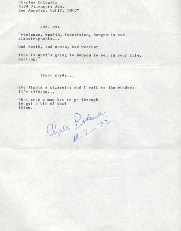 Bukowski poem