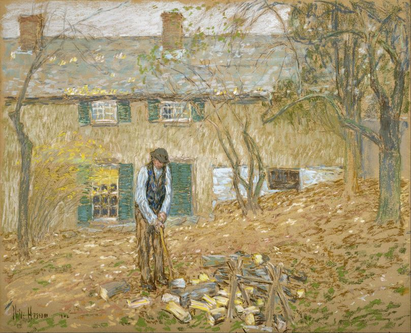 Childe_Hassam_-_Woodchopper_-_Google_Art_Project