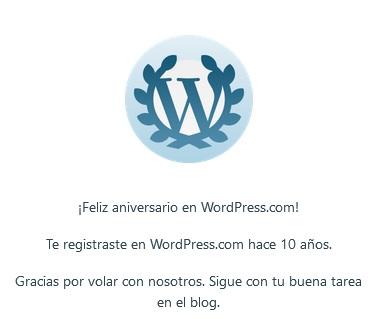 10º Aniversario blog