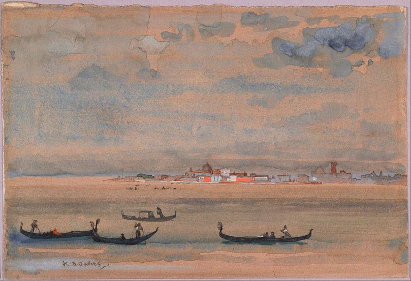 Pintura Góndolas de Arthur Bowen Davies