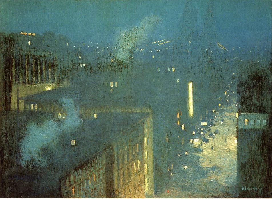 Painting Nocturne Queensboro Bridge by Julien Alden Weir