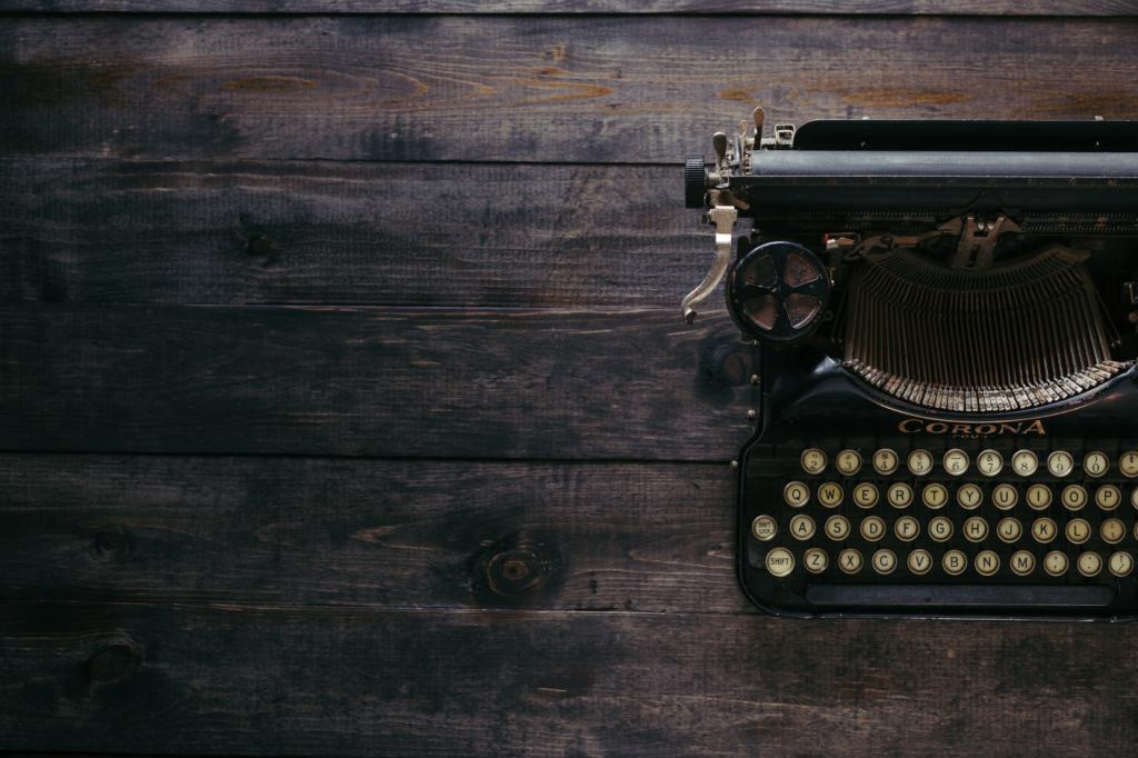 Imagen de una máquina de escribir
