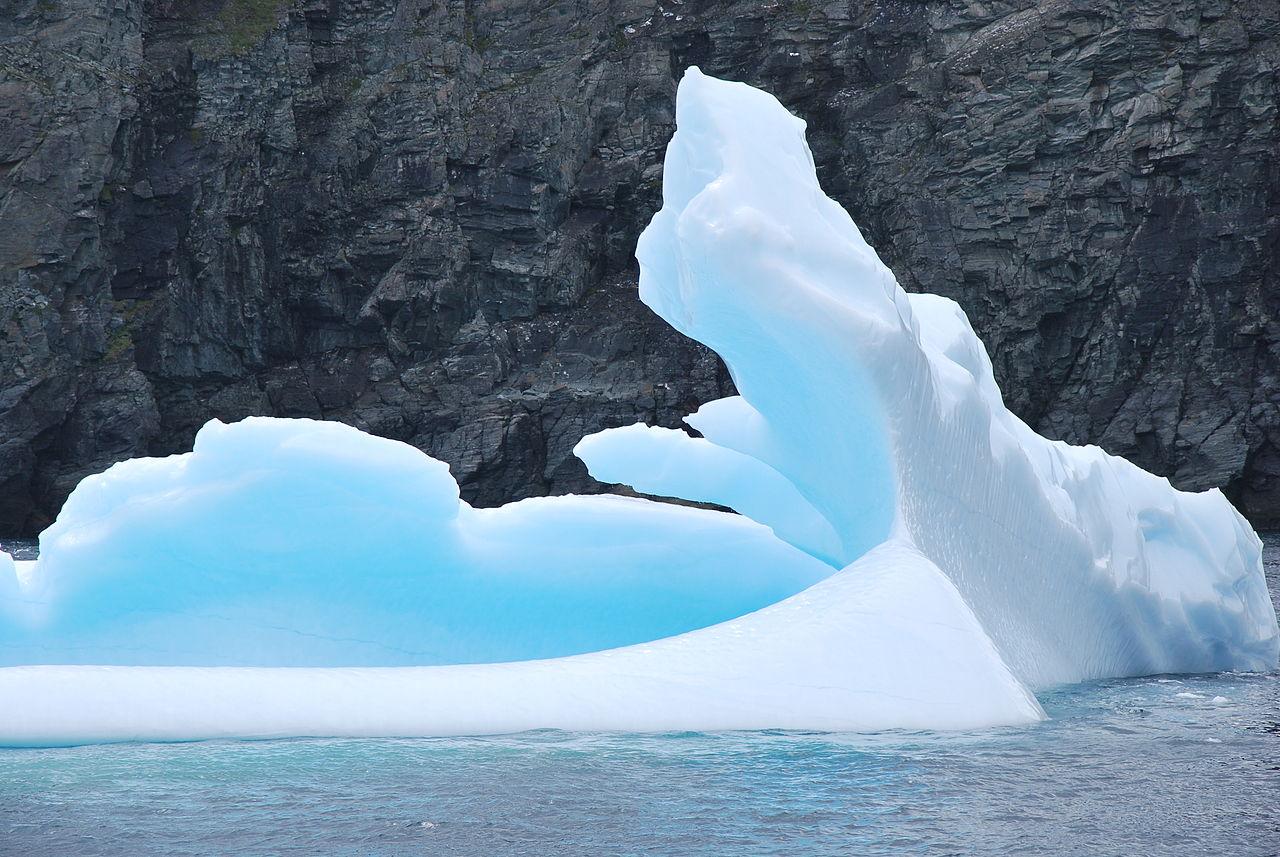 Image of an iceberg around St. Anthony in Newfoundland.