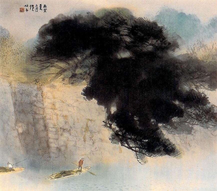 Image of green pines castle by Takeuchi Seihō