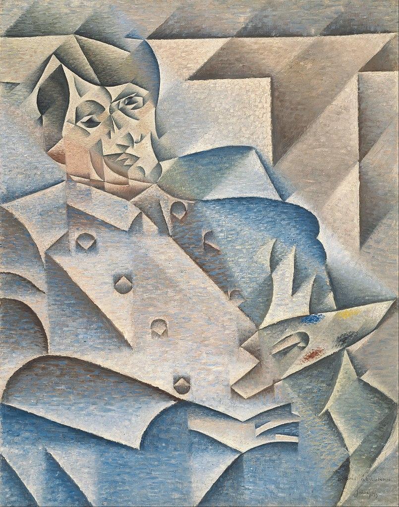 Retrato de Pablo Picasso por Juan Gris